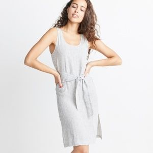 Marine Layer Brea Tie Front Dress in Black/White